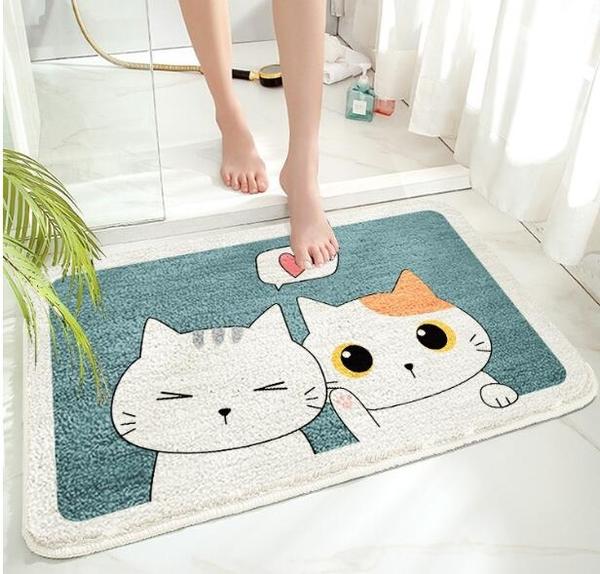 浴室防滑墊衛生間門墊腳墊臥室進門家用地毯浴室門口吸水地墊子 3C優購