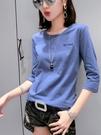 純棉t恤女短袖新款夏裝七分袖寬鬆洋氣中袖女裝上衣 淇朵市集