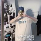 夏季短袖T恤男士ins港風潮牌個性印花純棉韓版潮流寬鬆圓領半袖衫 小宅妮