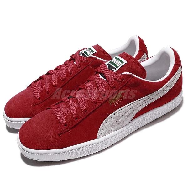 Puma 休閒鞋 Suede Classic 麂皮 紅 白 基本款 男鞋 女鞋 運動鞋【ACS】 35263465