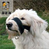 拉布拉多防咬防狗叫狗狗訓練嘴套中大型犬防爆沖寵物口罩防撿垃圾「千千女鞋」