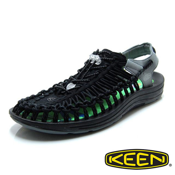 【KEEN】男 UNEEK 拉繩涼鞋『黑/灰』 日本限定版 1020777 健行 涼鞋 自行車 溯溪 健走 海邊 沙灘鞋