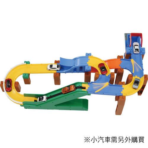 特價 TOMICA 交通世界創意軌道 新創意彎道組_TW83761