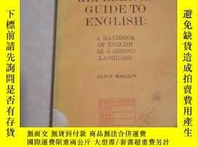二手書博民逛書店REFERENCE GUIDE罕見TO ENGLISH: A HANDBOOK OF ENGLISH A