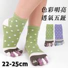 【衣襪酷】日式造型五趾襪 白點貓掌款 伍洋