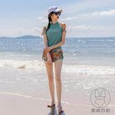 分體式保守泳衣女溫泉時尚遮肚顯瘦小個子運動款游泳衣【貼身日記】