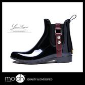 短筒雨鞋 防水膠鞋 韓國時尚金屬搭扣防滑雨靴 mo.oh (韓國鞋款