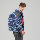 [安信騎士] 犀力 背包 兩件式 風雨衣 藍迷彩 雨衣 後背包收納空間