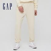 Gap男裝 碳素軟磨系列 法式圈織簡約風休閒休閒褲 753890-米色