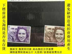 二手書博民逛書店日本郵票:英國王室結婚紀念罕見(二枚組合售)N3.Y244862 日本