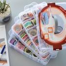 [大] 三層可拆自由分離盒 透明塑膠多用收納盒 首飾盒 (大30格) 透白色