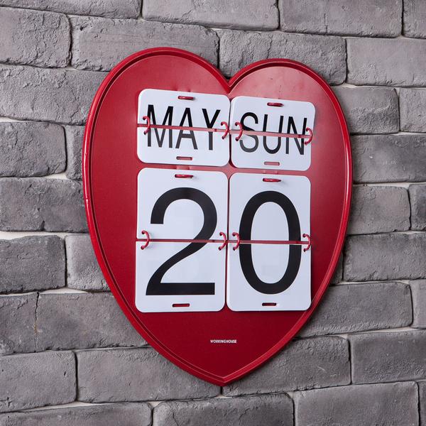 愛戀日曆鐵板掛飾-生活工場