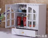 收納盒 梳妝台化妝品收納盒置物架大號桌面抽屜式木制防塵收納櫃掛 晶彩生活