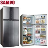 SAMPO聲寶【SR-A58G】580L白金雙脫臭雙門冰箱