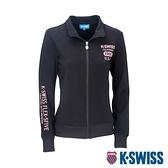 K-SWISS Solid Mock Neck Jacket運動外套-女-黑