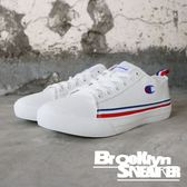 Champion 全白 白藍紅條紋 帆布鞋 休閒鞋 情侶鞋 男女 (布魯克林) 912210100 男 912220100 女