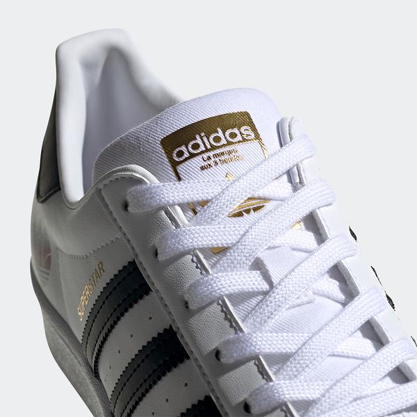 Adidas Superstar 女鞋 休閒 復古 三葉草 漸層 金標 白【運動世界】FX8543