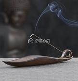 線香盒 線香香爐家用創意香盒臥香爐室內線香插香座仿古陶瓷禪意香插多色小屋
