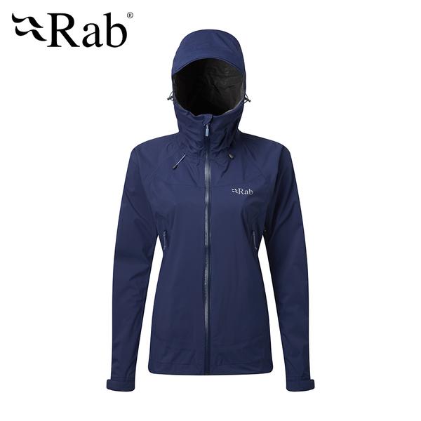 英國 RAB Downpour Plus Jacket 高透氣連帽防水外套 女款 藍圖 #QWF68