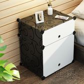 簡易床頭櫃簡約現代塑料臥室床頭收納櫃組裝迷你床邊小櫃子儲物櫃igo 衣櫥の秘密