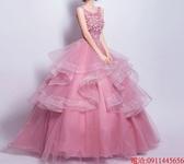 (45 Design)  7天到貨 新客製化顏色大尺碼訂做服5 婚紗禮服伴娘晚會主持人中長版蕾洋裝