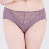思薇爾-微醺心戀系列M-XXL蕾絲中腰三角內褲(水銀紫)