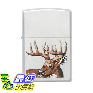 [美國直購] Zippo Lighters 23481 Whitetail Buck Deer Logo Zippo Lighter with Satin Chrome Finish 打火機