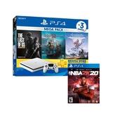 【1/17-1/26限時10天破盤降】SONY PS4 MEGA PACK 同捆組白+NBA 2K20 中文一般版