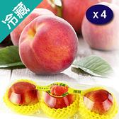 梨山水蜜桃3~4入/盒X4/箱  (含盒約550G)【愛買冷藏】