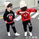 帥氣兒童裝男童秋冬套裝2020新款蜘蛛俠秋裝男孩加絨加厚兩件套潮 小艾新品