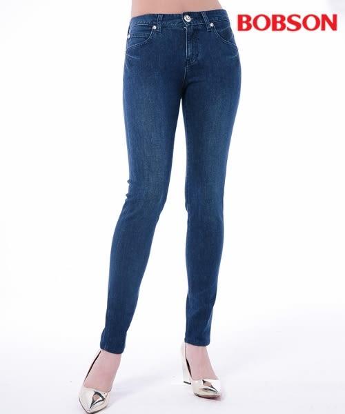 BOBSON 女款低腰膠原蛋白窄管褲(8151-53)
