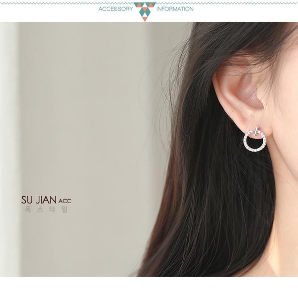 素簡手作《ES122》正白k~耳環 珍珠耳環 蝴蝶結耳環 韓劇耳環 愛心耳環 花朵耳環 純銀耳針