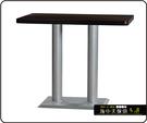 {{ 海中天休閒傢俱廣場 }} C-99 摩登時尚 餐桌系列 453-07 2X3.5尺美耐板餐桌/烤黑/烤銀腳(顏色可挑選)