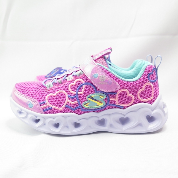 Skechers S LIGHT-HEART LIGHTS 中童鞋 302080LPKMT 粉【iSport愛運動】