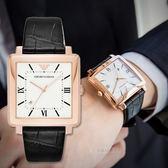 EMPORIO ARMANI 亞曼尼 AR11075 精緻方塊鱷紋時尚腕錶 熱賣中!