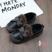 娃娃鞋 森系百搭毛毛鞋女冬季新款復古軟底娃娃鞋棉瓢鞋女加絨豆豆鞋 3色35-40