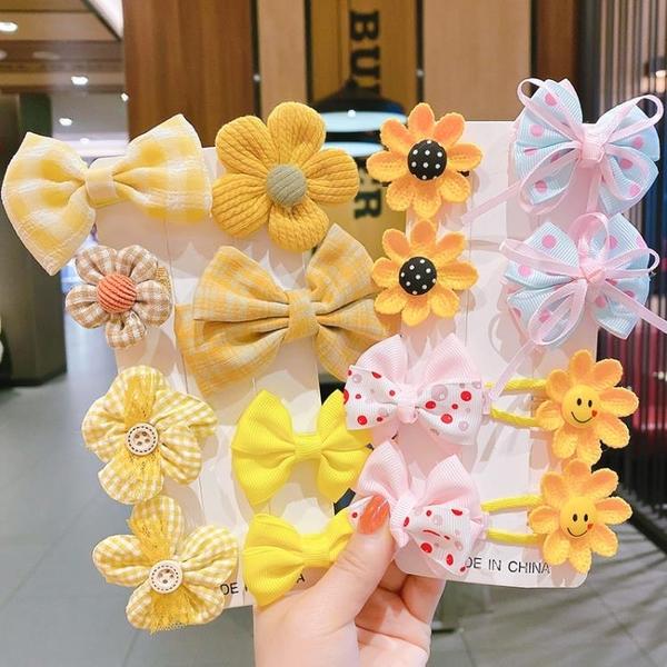 女童蝴蝶結頭飾兒童發卡小女孩花朵發夾寶寶卡子可愛公主頭花發飾 小時光生活館