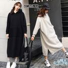 現+預 加絨加厚連帽素面大口袋孕婦洋裝 兩色【CRH130207】孕味十足。孕婦裝