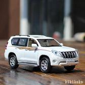 模型汽車 豐田普拉多合金汽車模型 陸地巡洋艦回力聲光玩具車金屬越野  XY6915【KIKIKOKO】TW