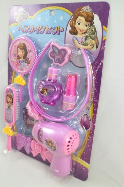 【卡漫城】 蘇菲亞 髮妝組 ㊣版 日版 迪士尼 小公主 Sofia 吹風機 扮家家酒 梳子 玩具  梳妝組 髮圈