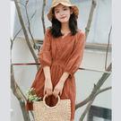 洋裝 刺繡鏤空連身裙洋裝 預購【67-2...