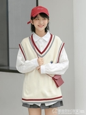 2020韓版新款學院風bf馬甲女背心V領學生百搭針織毛衣外套女馬夾  圖拉斯3C百貨