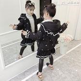 熱銷女童羽絨服棉衣2019新款韓版女孩冬裝洋氣中長款加厚棉襖兒童羽絨棉服潮 曼莎時尚