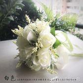 玫瑰新娘結婚手捧花仿真韓式伴娘影樓拍照道具 辛瑞拉
