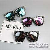 韓版新款兒童太陽鏡男童個性眼鏡墨鏡公主女孩鉚釘時尚