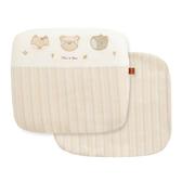 【奇哥】有機棉乳膠圓型枕禮盒-附布套(29x26x4cm)