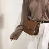斜背包包女包新款復古時尚馬鞍包森系百搭洋氣側背小皮包 聖誕交換禮物