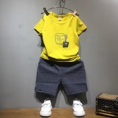 男童套裝新款正韓兒童短袖小童男【快速出貨中秋節八折】