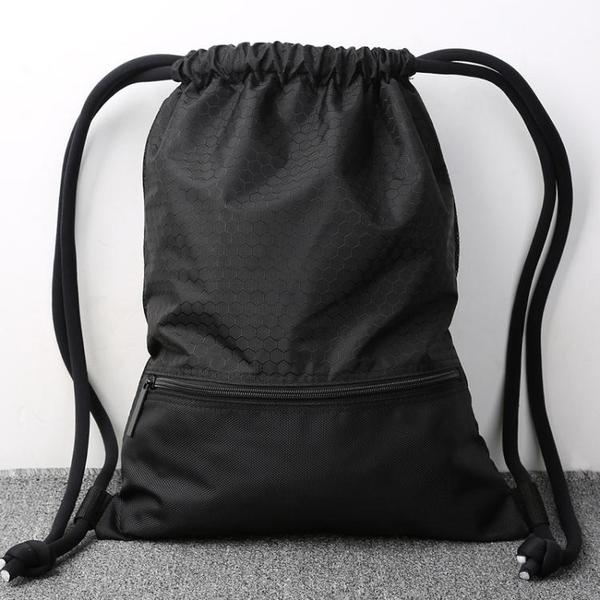 後揹包-束口袋抽繩後揹包男女通用戶外旅行揹包防水輕便折疊運動健身包袋 依夏嚴選