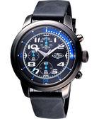 KATINO 飛行者大錶面計時腕錶(K5879DBSiB)-藍